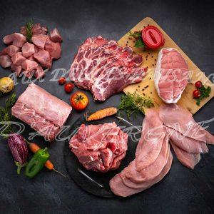Caissette de 6kg panaché 3kg veau + 3kg sauté de porc