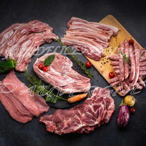 Caissette 6kg panachée été 3kg veau + 3kg porc avec godiveaux