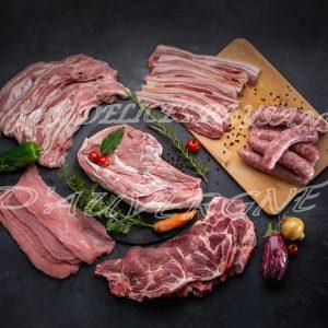 Caissette 6kg panachée étée 3kg veau + 3kg porc avec saucisses