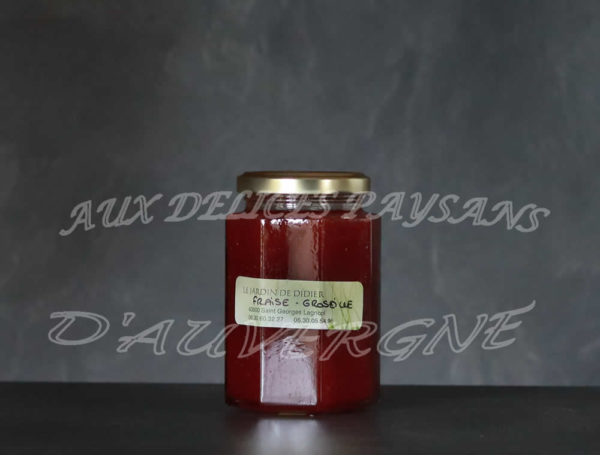 Confiture de fraise groseille 300g
