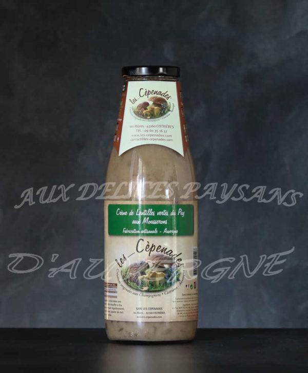 Crème de lentilles aux mousserons 72cl