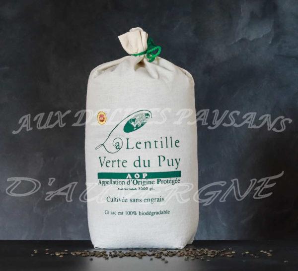 Lentilles vertes du Puy 3kg