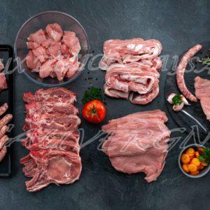 Panaché veau et porc avec de godiveaux