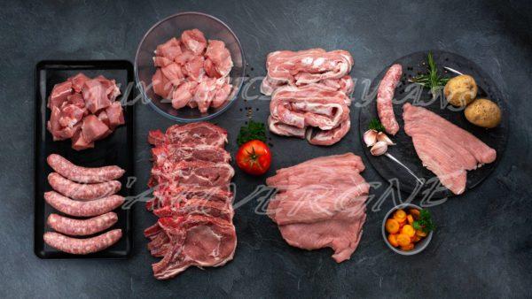 Panaché de veau+ porc avec saucisses