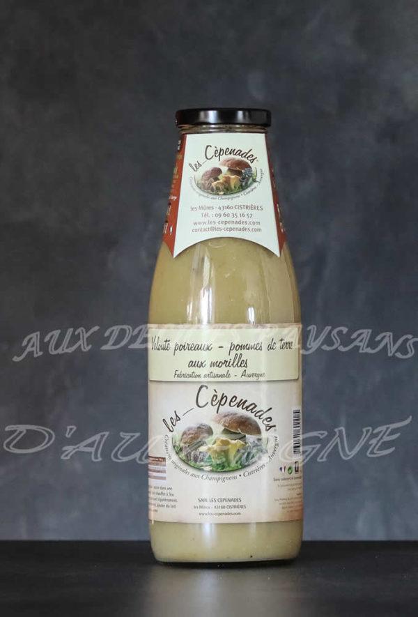 Velouté de poireaux pommes de terre aux morilles 72cl