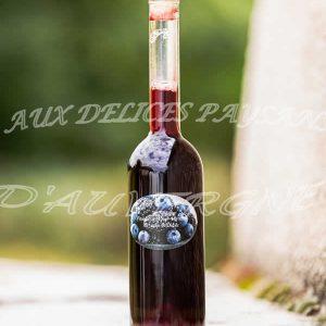 Vinaigre de mûres myrtilles 25cl
